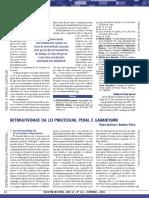 10 - QUEIROZ, Paulo. Retroatividade da lei processual penal e garantismo