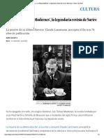 Cierra 'Les Temps Modernes', la legendaria revista de Sartre y Beauvoir _ Cultura _ EL PAÍS