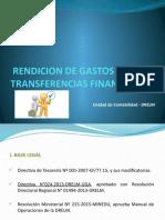 RENDICION DE TRANSFERENCIAS BANCARIAS