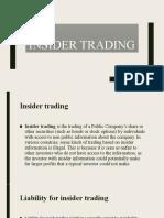 Unit IV - Insider trading