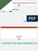 Unit IV-Liquidation & Winding Up