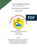 ME6601-Design of Transmission Systems