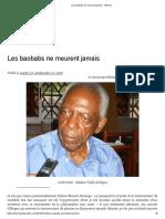 Les baobabs ne meurent jamais – Hekima Delphine Abadie sur Fabien Eboussi Boulaga