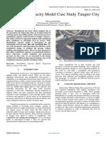 Roundabout Capacity Model Case Study Tangier City