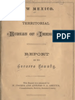 Report as to Socorro County NM Bureau of Immigration 1881by Fischer & Abeytia