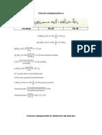 Cálculos  nitracion y dinitracion