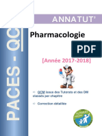 PACES QCM Pharmacologie