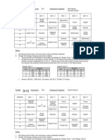 GCSS Timetable 3R11 and 3R12