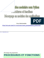 PB - programmation modulaire avec python