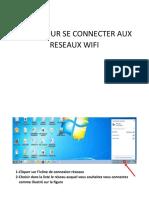 ETAPE POUR SE CONNECTER AUX RESEAUX WIFI