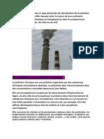 La pollution chimique est un type particulier de classification de la pollution.docx
