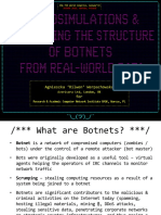 Microsimulation Botnet 2019