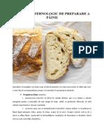 Procesul tehnologic de preparare a painii