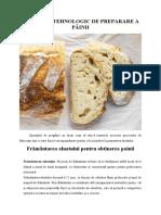Frământarea aluatului - Procesul tehnologic de preparare a painii