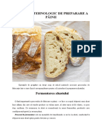 Fermentarea aluatului - Procesul tehnologic de preparare a painii