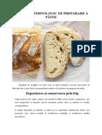 Depozitarea şi conservarea prin frig - Procesul tehnologic de preparare a painii