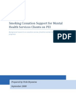 Annotated Bibliography - Smoking Cessation Support for Mental Health Services Clients on PEI - final