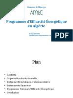 programme D'EE en algerie