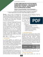 CONCEPTION DES DISPOSITIFS D'ETANCHEITE OPTIMISEE _ DIMENSIONNEMENT DES BASSINS D'EVAPORATION DE L'UNITE TRAITEMENT DE GAZ QUARTZITES HAMRA