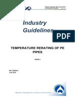 Plastic PE pipes - operating vs temp