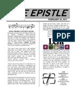February 2011 Epistle