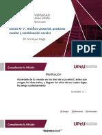 Clases N° 7 . Análisis vectorial, producto escalar y combinación escalar.pptx
