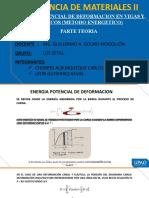 energía potencial de deformación en vigas y pórticos