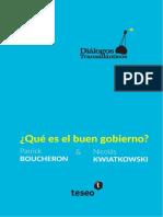 Boucheron & Kwiatowski (2018) Qué Es El Buen Gobierno