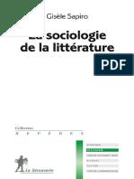 Que Sais Je_La sociologie de la litterature_Sapiro Gisele