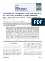 Effectiveness and Acceptability of Instructional Materials in the Enhancement of Students' Academic Achievement
