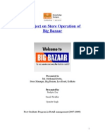 A project on Store Operation of Big Bazaar