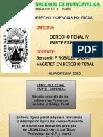 PRIMERA SEMANA D. PENAL IV - 2020