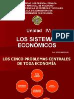 UNIDAD IV LOS SISTEMAS ECONÓMICOS