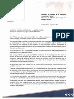 Courrier FFF-LFA (11 Janvier 2021)