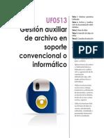 UF0513 Gestión auxiliar de archivo en soporte convencional o informático
