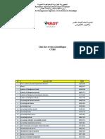 Liste des revues scientifiques CNRS
