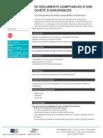 Les documents comptables dune societe dassurances
