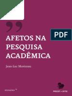 Afeto na Pesquisa Acadêmica