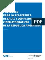 El protocolo para la reapertura de cines