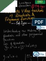 MODULUS OF QUADRATIC FUNCTIONS- IEG Version