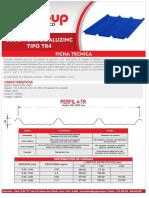 Cobertura de Aluzinc Tr4