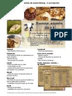 Menus de La Cuisine de Meme Moniq Du 2 Au 8 Janvier