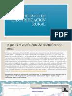 COEFICIENTE DE ELECTRIFICACION RURAL