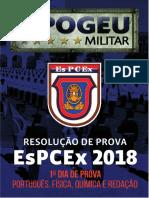 Resolução EsPCEx 2018.2019 - 1º Dia