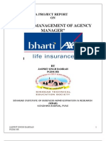 Talent Management of Agency Managers in BHARTI AXA