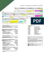 Calendario académico 2020-21 máster