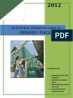 INFORME DE AUDITORIA AMBIENTAL CEMENTOS LIMA