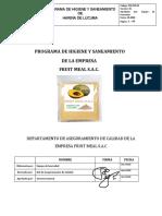 Programa de Higiene y Saneamiento Fruit Meal Sac1