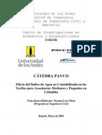 15-Efecto del Índice de Agua no Contabilizada en las Tarifas para Acueductos