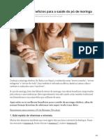 10 Poderosos Benefícios Para a Saúde Do Pó de Moringa